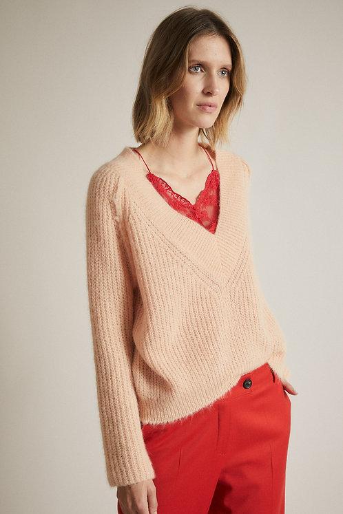 LANIUS - Pullover V- neck peach