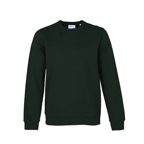 CS - classic organic crew sweat emerald green