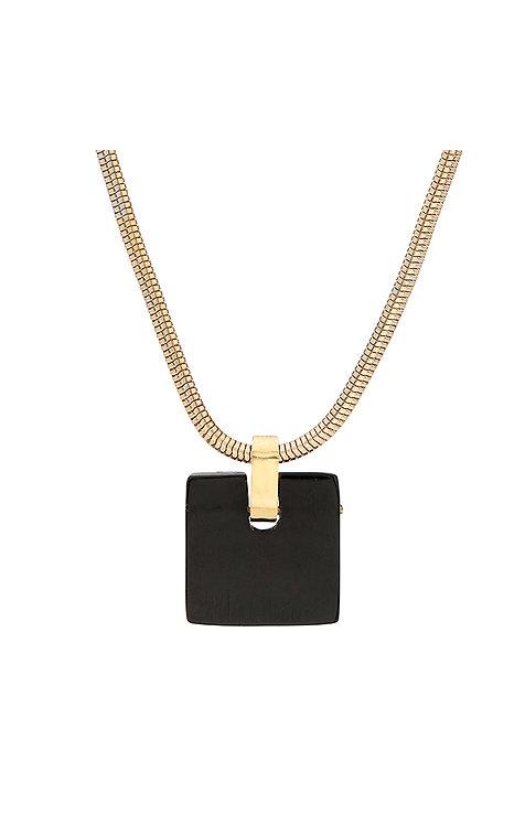 SOKO - Jenga pendant necklace gold/black