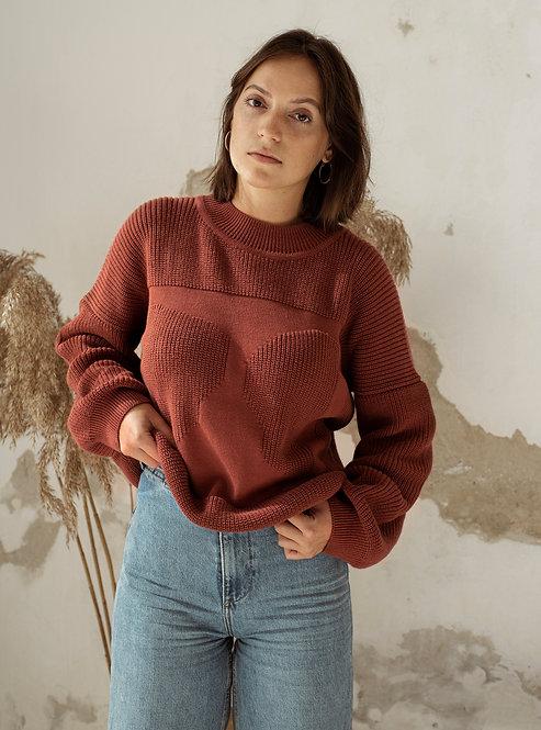 OAT AVA - Moa sweater rust