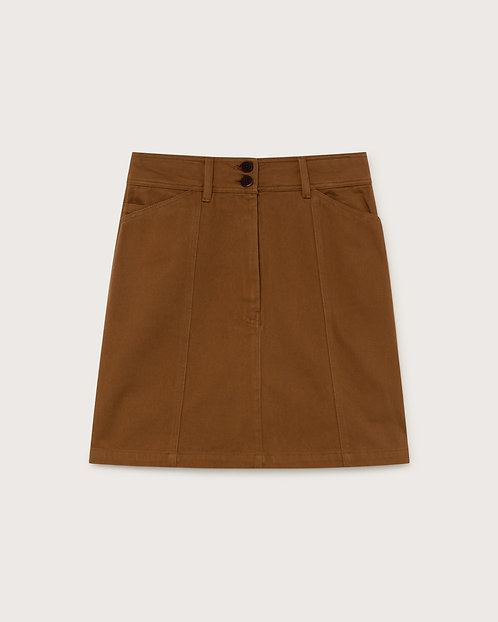 THINKING MU - Rhea skirt caramel