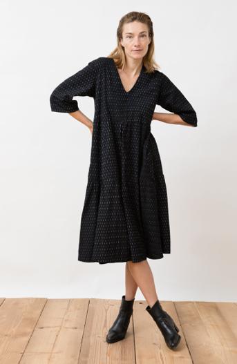 JUNGLE FOLK - Kamuki Dress black dots