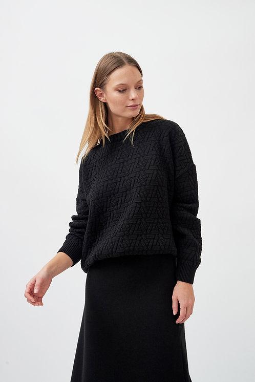 MILA.VERT - Triangle knit sweater black