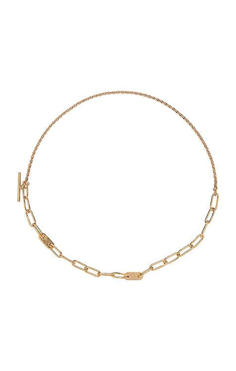 SOKO -  Delicate ellipse necklace gold