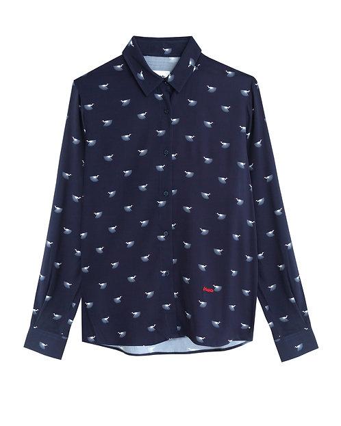 BRAVA - Japanese sky print shirt