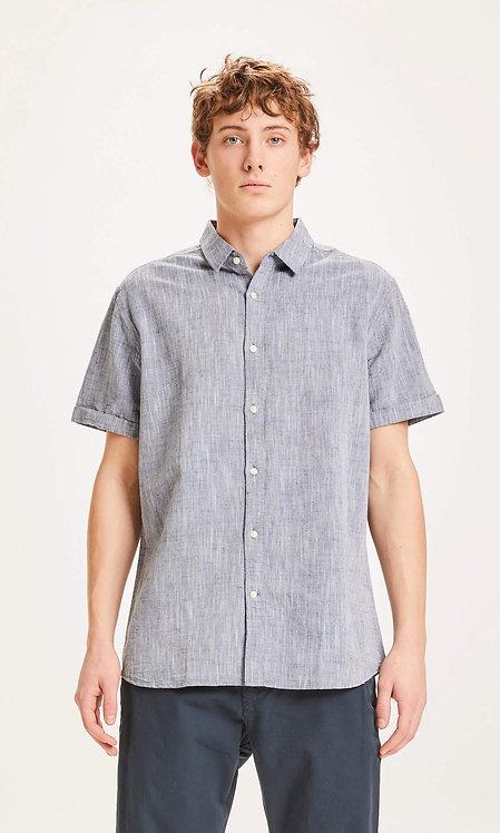 KCA - Larch SS linen shirt total eclipse