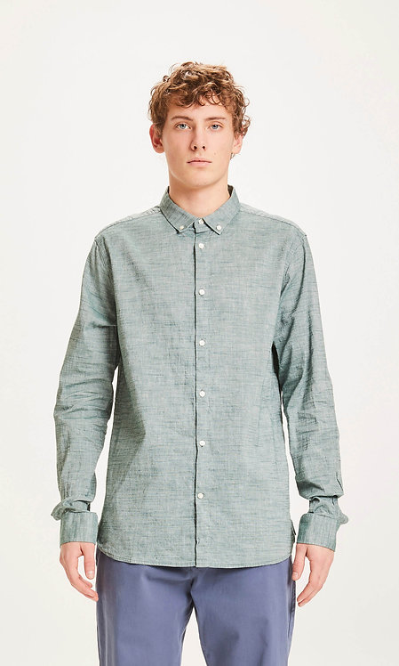 KCA - Larch LS linnen shirt pineneedle