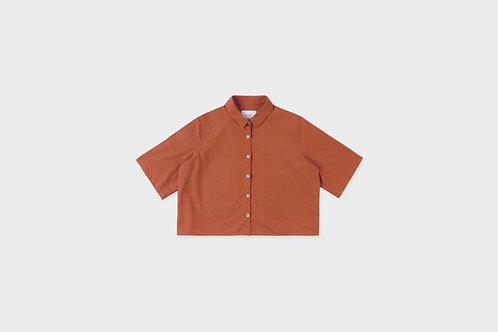 ROTHOLZ -  cropped shirt clay