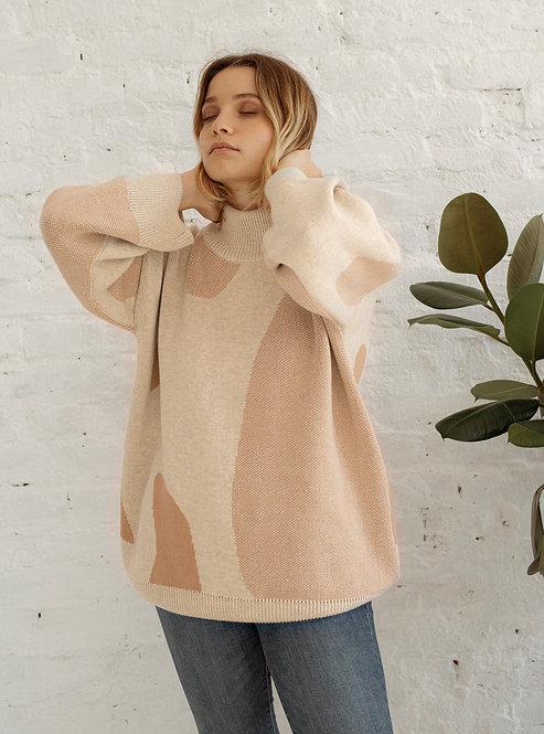 OAT AVA -  Minareal sweater beige