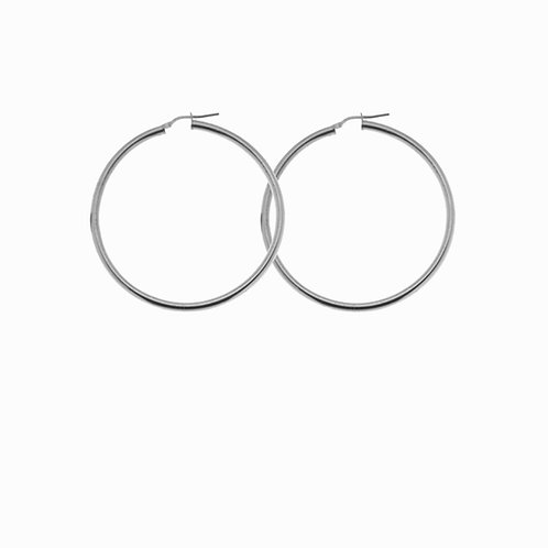 SISTER - fine hoops silver
