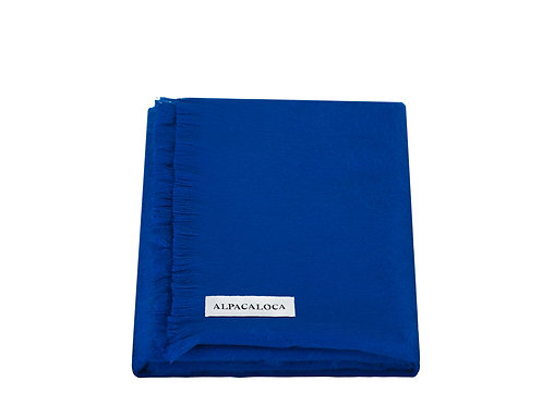 ALPACA LOCA - sjaal enkel azure blue