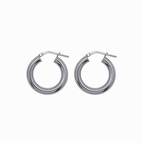 SISTER - chunky hoops medium silver