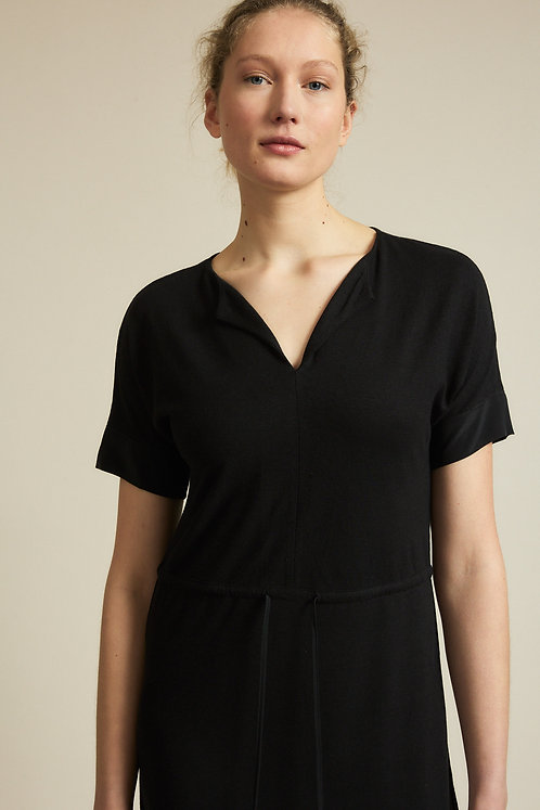 LANIUS - V- neck dress  black