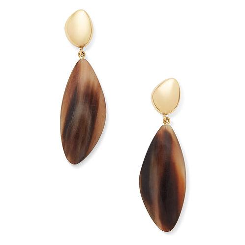 SOKO - Tulla horn drop earrings natural