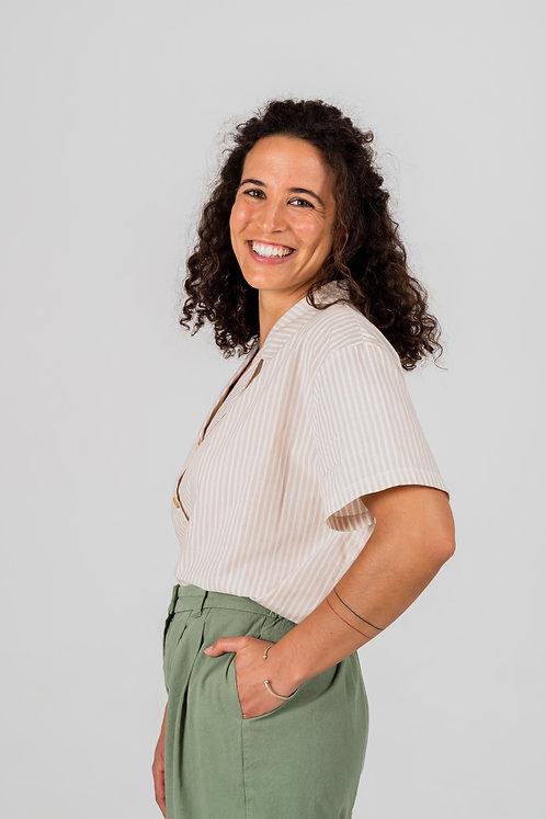 NÄZ- Trafaria shirt beige stripes