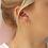 Thumbnail: WILD FAWN - small hoop earrings silver