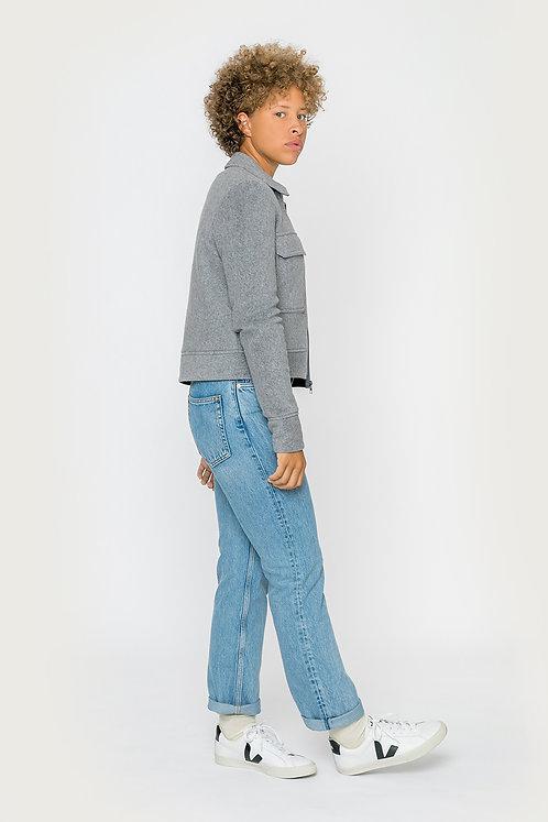 ROTHOLZ - Boxy jacket chestnut grey melange