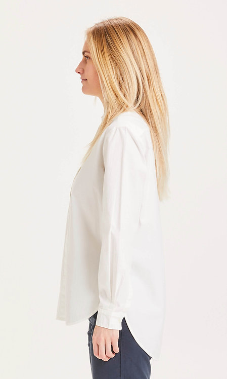 KCA - Juniper loose long shirt bright white