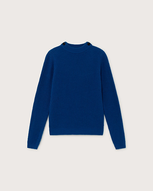 THINKING MU - Hera sweater strong blue