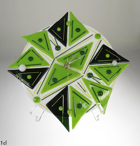 Spring Green Glass Clock