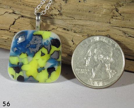 Medium Spots Glass Square Necklace
