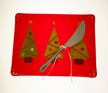 Holiday Trees Cheese Platter