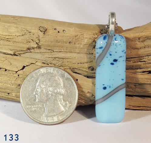 Medium Long Opal Blue Reactive Necklace