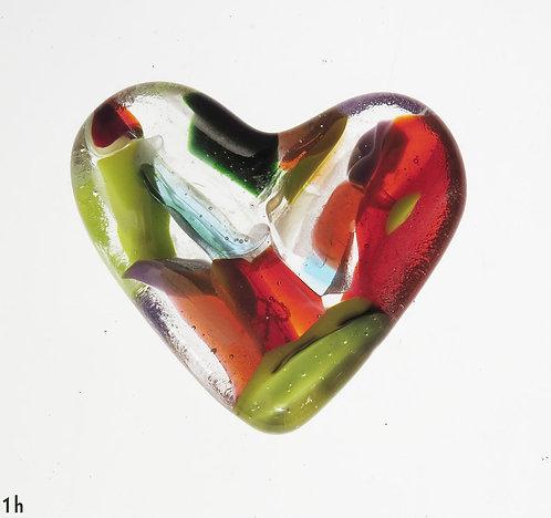 Rainbow Glass Heart