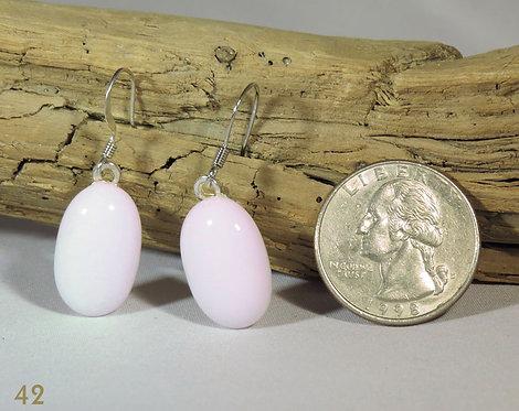 Medium Opal Pink Glass Earrings