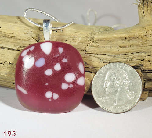 Small Cranberry Glass Necklace