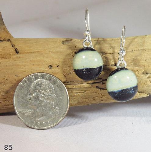 Small Aventurine Blue Glass Earrings
