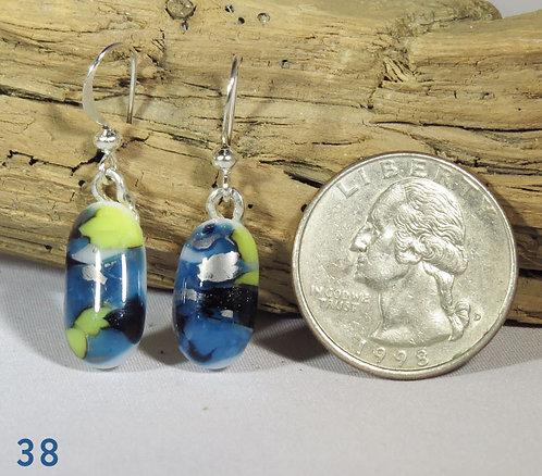 Medium Spots Glass Earrings