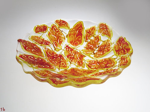 Leaf Glass Glass Bowl
