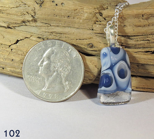 Small Blue Murrine Glass Necklace