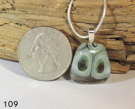 Small 2 Murrine Glass Necklace