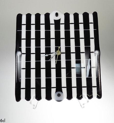 Black & White Glass Clock