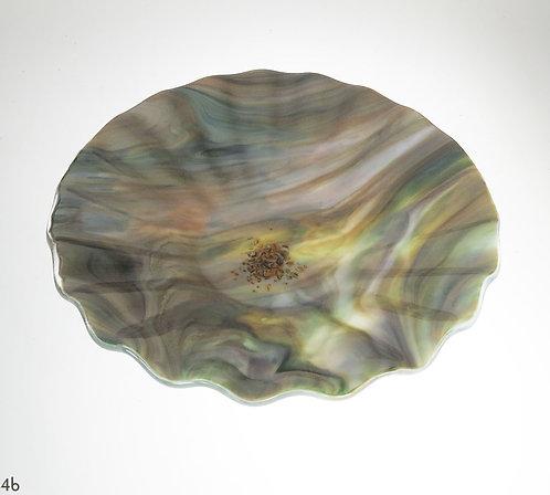 Opalescent Green Glass Bowl