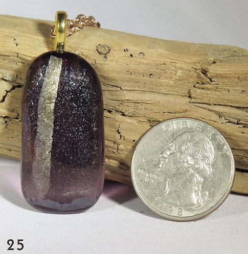Purple Glass Necklace