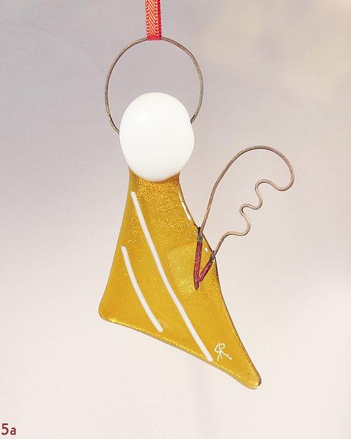 Amber Glass Angel Ornament