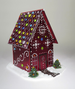 Glass Gingerbread House