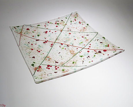 Holiday Color Glass Platter
