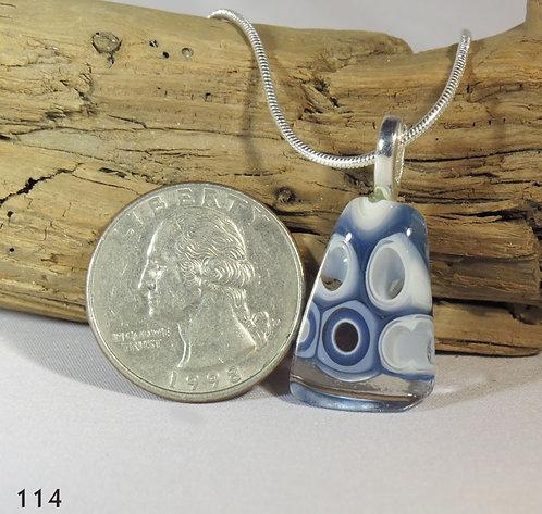 Medium Blue Murrine Glass Necklace