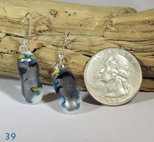 Large Spots Glass Earrings