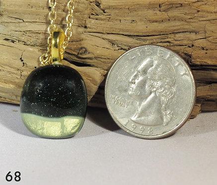 Small Aventurine Green Glass Necklace
