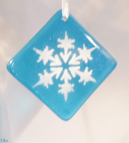 Snowflake Turquoise Ornament