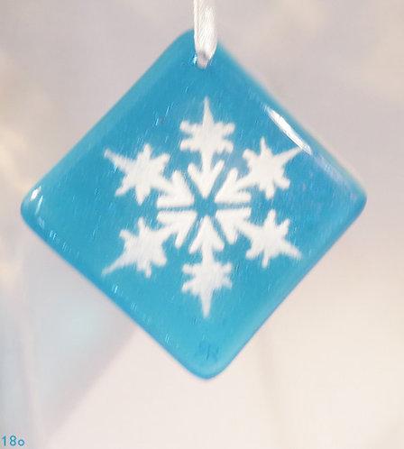 Snowflake Turquoise Ornament