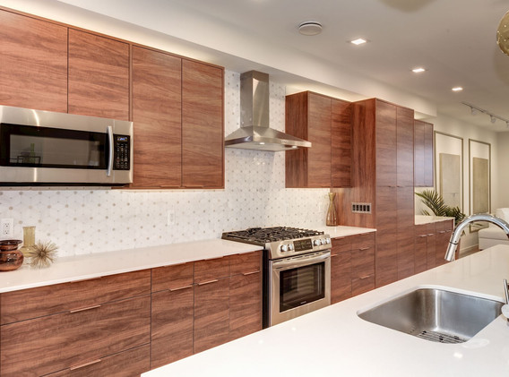 Custom cabinetry with extensive drawers