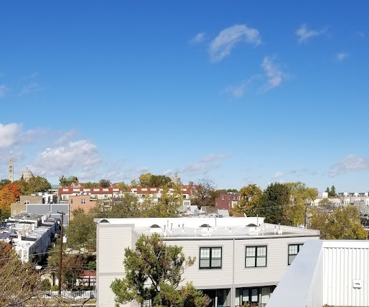 This is only part of the panoramic view from the roof deck!