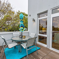 Dining deck off penthouse kitchen