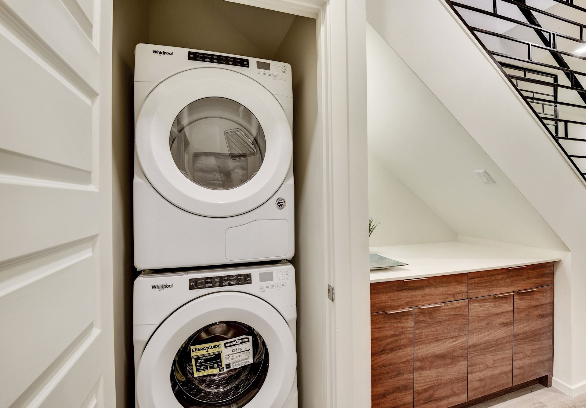 Penthouse had custom laundry nook